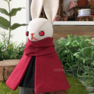 赤い目のオーダーチビうさぎ / custom made little bunny with red eyes