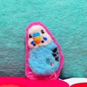 心潤う小鳥ガーデン羊毛編