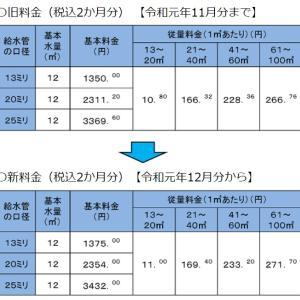 上下水道料金の変更について♪【東海住宅 名古屋】