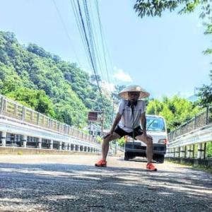 旅ラン「甲州道走膝痛シ」…阿弥陀海道~石和宿、その2(山の中の寿司屋)