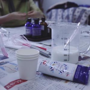 9月のsavon香房はキャメルミルクで石けん作りをしました