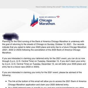 悩ましいシカゴマラソン