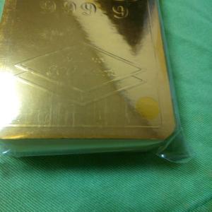 ゴールドのメモ帳