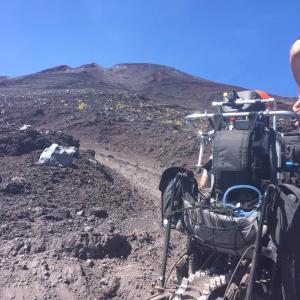 今年の車椅子富士登山は延期