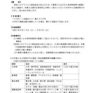 """新型コロナウイルス感染症拡大防止協力金として市独自に""""10万円""""支給"""