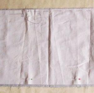 サブバッグ 型紙と作り方 鮫小紋