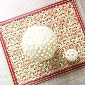 石畳編みで球体