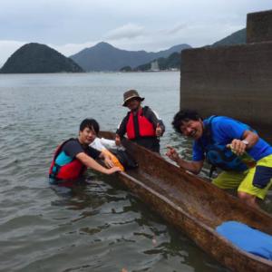 静岡県内にて丸木舟体験!