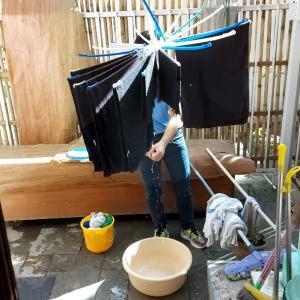 洗濯物が乾く季節になってきたニューデリー