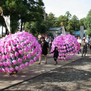 今日9月19日は、古尾谷八幡神社例祭日
