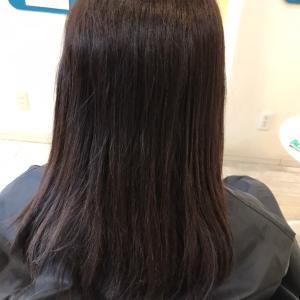 髪質改善縮毛矯正で、自然な仕上がりに