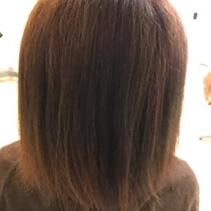 縮毛矯正と和漢カラー