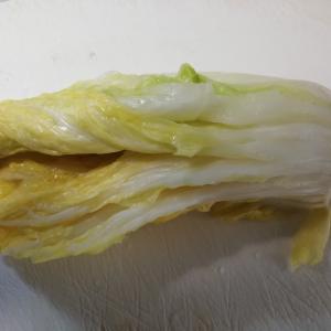 白菜の漬物…食す