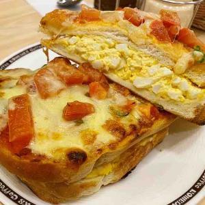 コメダ珈琲のたっぷり玉子のピザトーストは最強!