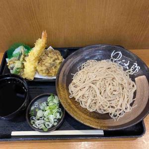ゆで太郎で天もり蕎麦大盛りを堪能する