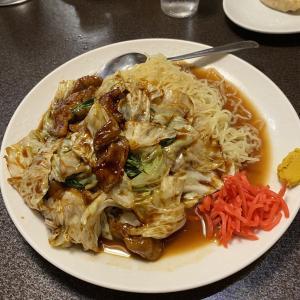西千葉『北京亭本店』で肉野菜冷やしそば&玉子炒飯&餃子