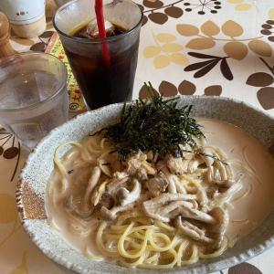 千葉駅近く『くつろぎ処Cafe まとい亭』で美味しいスパゲッティーとケーキのセットを。