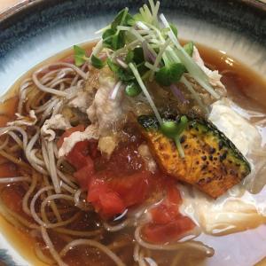 京都の旅12『蕎麦流々 千角』で桜海老のかき揚げ&生湯葉冷やしそば