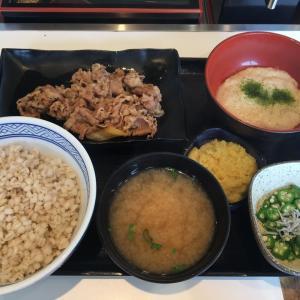 吉野家で夏の丼『牛皿生姜麦とろ御膳』をかっ食らう!!