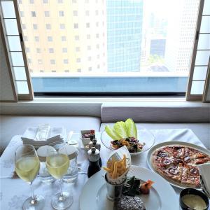 日帰りホテルヒルトン大阪にて、ルームサービス
