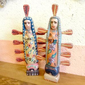 グアテマラの木彫りのグアダルーペのマリア様[Pick Up]