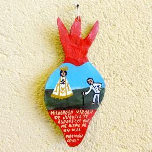 メキシコのフキーラのマリア様の奉納画レタブロ[Pick Up]