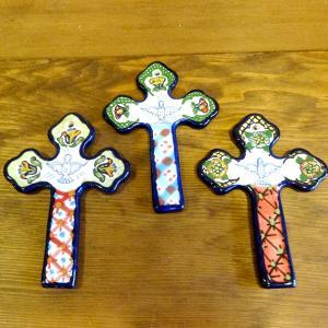 メキシコのタラベラ焼きの十字架[Pick Up]