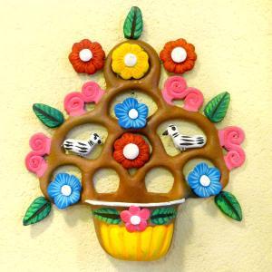 メキシコの生命の樹の壁飾りポット付[Pick Up]
