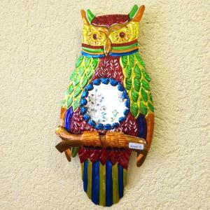 メキシコのフクロウのブリキミラー[Pick Up]