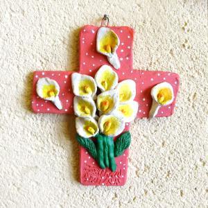 メキシコのアギラールさんの陶器十字架[Pick Up]