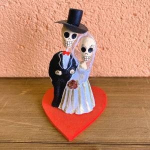 メキシコのガイコツのカップル人形[Pick Up]