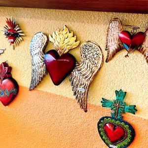 メキシコのアンティーク調なハート飾り[Pick Up]