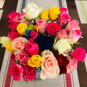 バラの花束と長男の誕生日♪