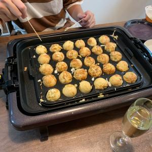 【週末ご飯】ホットプレートでたこ焼き&焼肉
