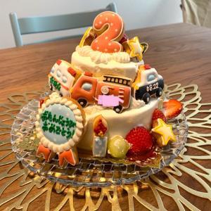 【次男2歳の誕生日】誕生日ケーキやプレゼント♡