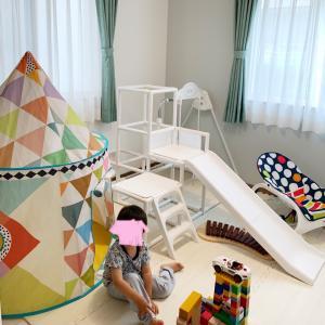 【4.75畳子供部屋】梅雨時期の室内遊びに活躍している遊具。