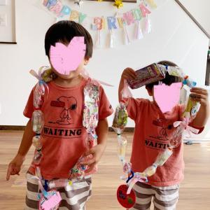 【次男3歳の誕生日②】大好評のキャンディレイとトランポリンの感想!