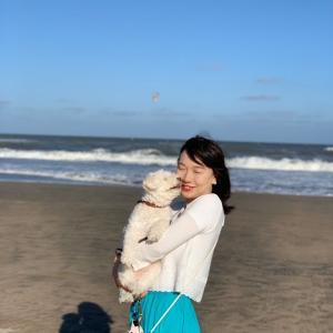 台風一過の九十九里・白浜海岸でアーシングしました!
