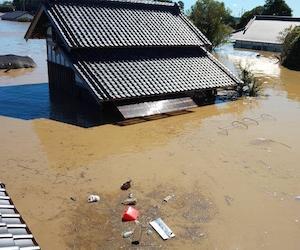 台風19号 水没