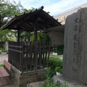 都内に2箇所しか残っていない蔵敷高札場と2つの本殿があるような厳島神社