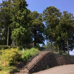 県内最大級方墳である穴八幡古墳と八幡神社のある小川町
