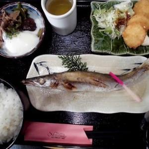 1153) 松幸日替わりランチ ~焼きカマス/ホタテのフライ/すき焼き風煮