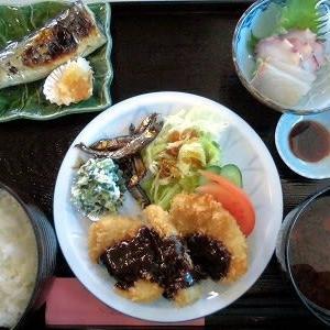 1202 松幸日替わりランチ ~みそヒレカツ/サンマの塩焼き/刺身(タコとカンパチ)