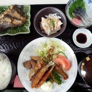 1255) 松幸ランチ  ~アカガレイの煮付け、子鮎のフライ、冷しゃぶ、シメサバ