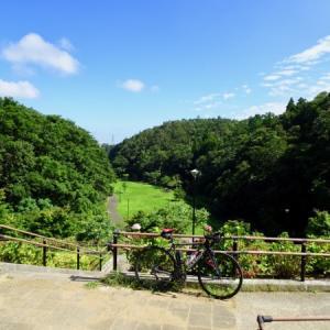 梅雨明け最初のサイクリングでうるいど自然公園へ