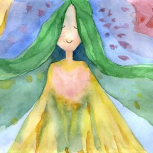 緑の髪の女の子