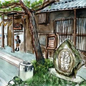 穂高駅と道祖神