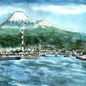 今日の富士山を描く