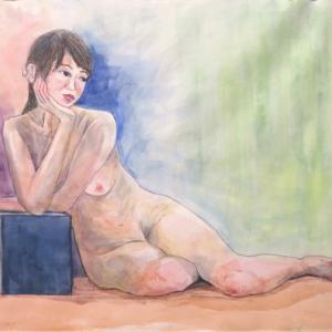 裸婦を描く  2回目