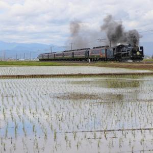 会津盆地の5月~磐越西線